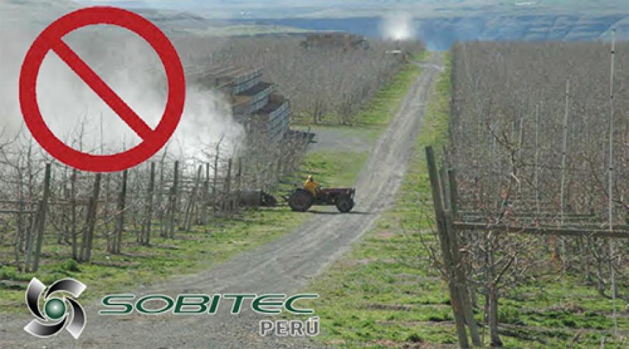 La deriva en aspersiones agrícolas